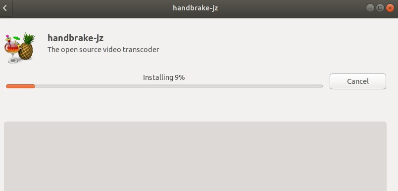 HandBrake is being installed