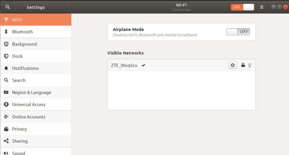 Ubuntu Wifi settings