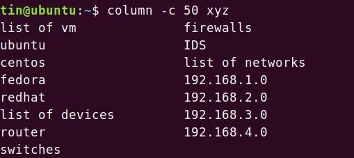 Using -c parameter