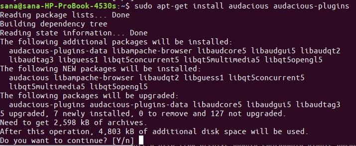 Install audacious with apt