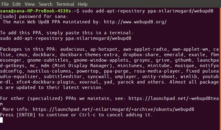 Add PPA Repository
